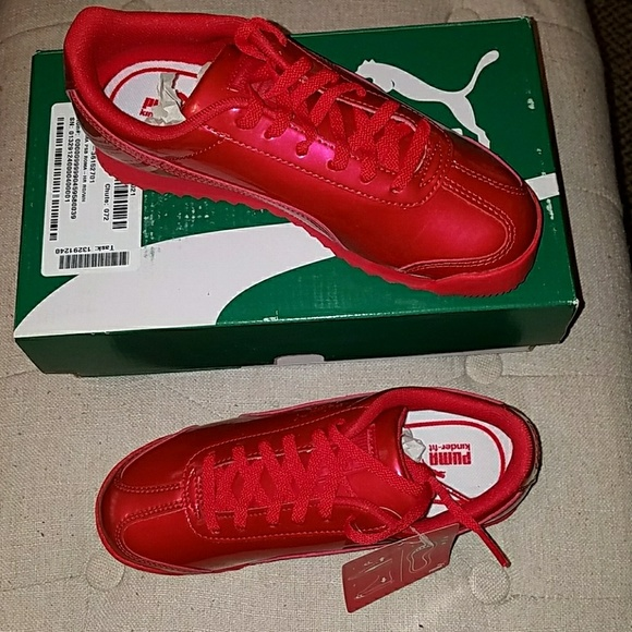 6b1a61e92f7 Brand new Kids size 3 all red Puma shoes